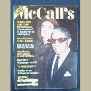 McCALL's~1972~vXCIX/#6~VINTAGE WOMEN'S MAGAZINE~JACKIE & ARI~ Fashion~Beauty~Health~Nutrition~Drugs