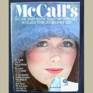 McCALL's~1972~vC/#1~VINTAGE WOMEN'S MAGAZINE~SYLVIA PLATH~ Fashion~Beauty~Health~Food~Home