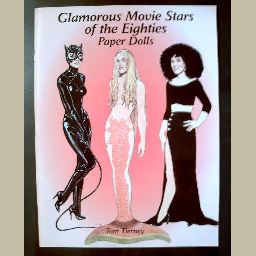 GLAMOROUS MOVIE STARS OF THE EIGHTIES ~Paper Dolls by Tom Tierney ~like new/UNCUT ~Cher/Bette/Dolly