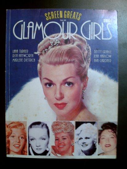 GLAMOUR GIRLS ~ Screen Greats Series Vol. VII ~Vintage book ~Hollywood stars ~photos, bios