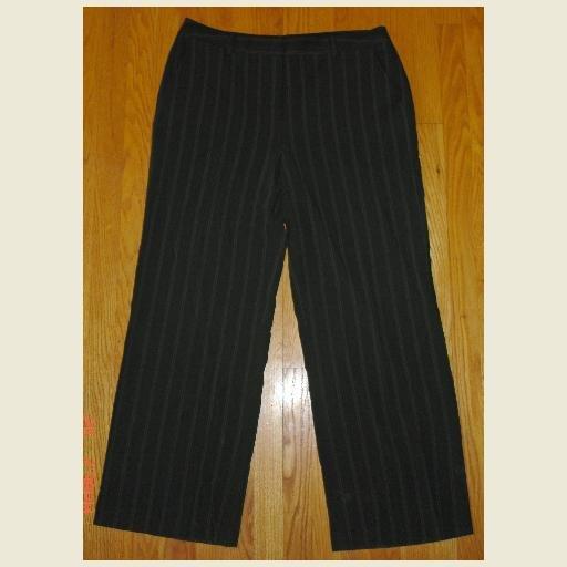 Black & White Pinstripe Slacks by Merona ~Dress Pants ~Trousers ~size 16 Women