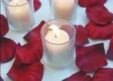 100 Burgundy Silk Rose Petals Weddings Crafts (Large)