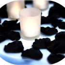 100 Black Silk Rose Petals Weddings Crafts (Large)