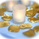 100 Metallic Gold Silk Rose Petals Weddings Crafts (Large)