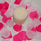 100 Mix of Fuscia and Light Pink Silk Rose Petals Weddings Crafts