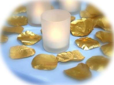 1000 Metallic Gold Silk Rose Petals Weddings Crafts (Large)