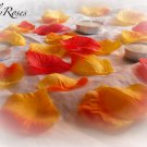250 Autumn Mix Silk Rose Petals Weddings Crafts (Large)