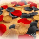 250 Patriotic Mix (Red, White & Blue) Silk Rose Petals Weddings Crafts (Large)
