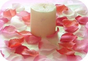 250 Red & Pink Mix Silk Rose Petals Weddings Crafts (T)