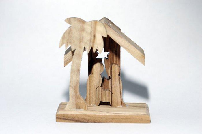 Mini Olive Wood Nativity (A) - for Xmas Tree