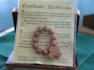 Olive Wood Finger Rosary - with certificate of authenticity