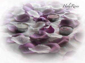 2000 Mauve & Ivory Mix Silk Rose Petals Weddings Crafts (Large)