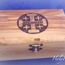 Olive Wood Box Jerusalem Cross Design (MED)