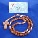 Olive Wood Rope (White) Rosary with Crucifix  - from Bethlehem