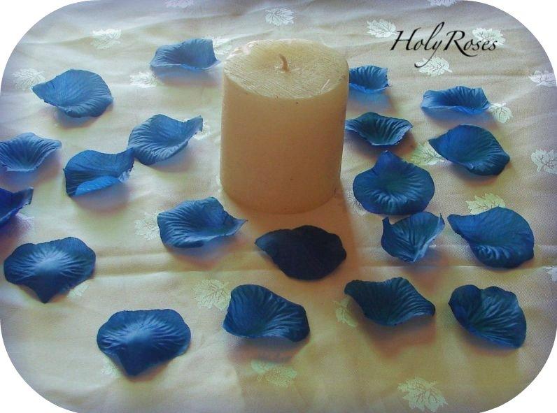 250 Dark Blue Silk Rose Petals Weddings Crafts (TL)