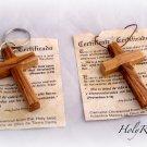 Olive Wood Large Cross Keyring & Pendant Set HJW