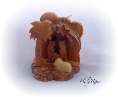 Mini Olive Wood Nativity (B) - for Xmas Tree