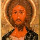 Religious Wood Icon Holy Jesus - Jerusalem Stone 5432