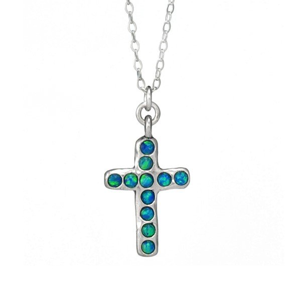 "Sterling Silver ""Savior's Cross"" Pendant with Chain"