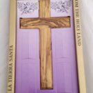 "Olive Wood Protestant Cross 6.25 "" /16 cm - Presentation Pack"