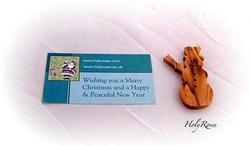 12 x Olive Wood Christmas Tree Ornament Decoration -Snowman Design
