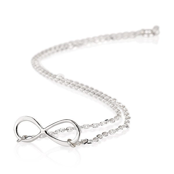 Sideways Infinity Symbol Pendant Necklace Sterling Silver Eternal Love Valentine
