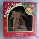 Mini Olive Wood Nativity Scene v1- for Xmas Tree - Gift Boxed