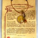 Holy Jordan Water & Stones Terra Sancta Vial Pendant Necklace Christian Holyland