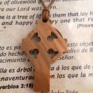 Celtic Cross / St. Patrick's Olive Wood Pendant
