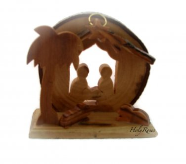Mini Olive Wood Nativity (F) - for Xmas Tree