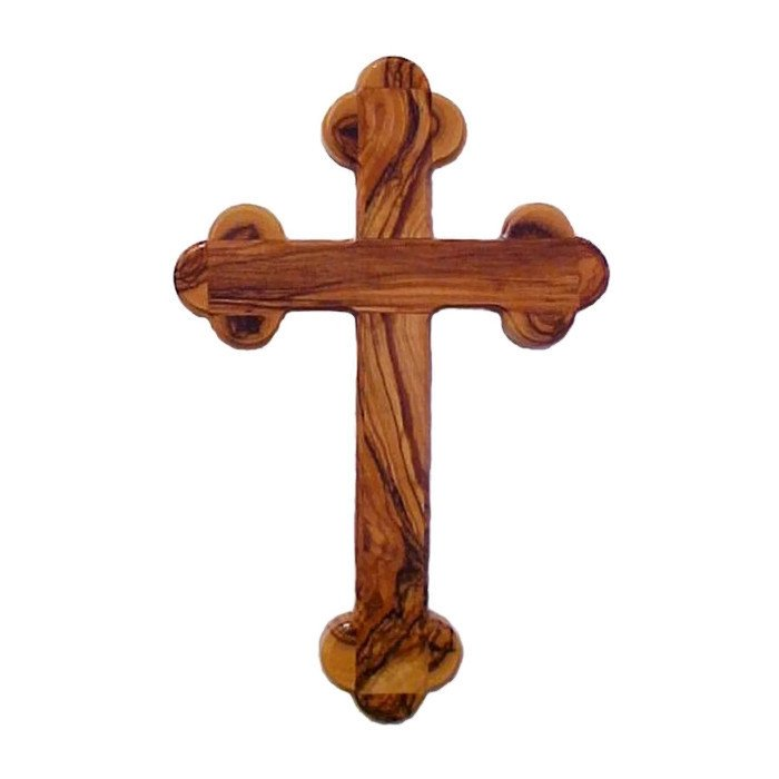 Olive Wood 14 Stations Wall Cross 13 cm