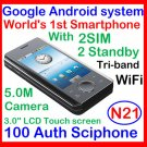 100% genuine Unlock Sciphone N21 android OS smartphone 2SIM 2standby
