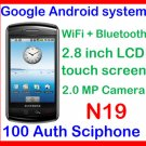 100%Auth Sciphone N19 Google Android smartphone WiFi ,Camera,Bluetooth