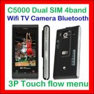 Unlocked Ephone C5000 Quadband+2Sim+WIFI+TV+FM+JAVA+2GB+ 3page touch flow menu cellphone