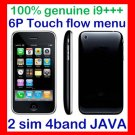 Free ship Unlock i9+++ 2Sim Dual Standby 6P flow menu cellphone