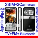 Free ship Unlocked T818 TV+FM+2Cameras+2SIM+3.0 inch touch screen