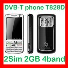 Free ship Unlocked Unlcok Anycool T828  DVB-T TV mobile 2SIM 2 camera quadband