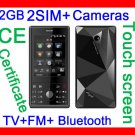 Free ship  New UnlockT728 TV Mobile Phone,2SIM 4band touch phone