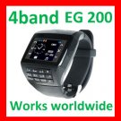 Free ship Unlock Quad-band watch phone EG200 touch screen,Camera