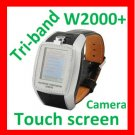 Free ship Unlock Tri-band watch phone W2000 touch screen,Camera