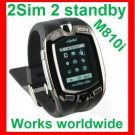 Free ship unlock watch phone M810i 2SIM 2 standby ,Touch screen