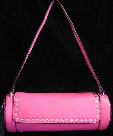 Hot Pink Cylinder shaped handbag bag purse NWT s