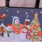 Snowmen Family celebrate Handbag bag purse Christmas