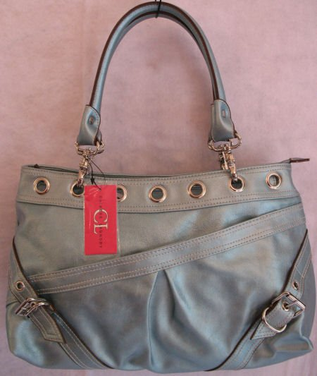 Metallic Icy Blue Chinese Laundry Brand Handbag Bag Purse SOLD OUT