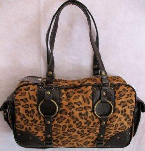 Cheetah Print handbag HOT side pocket design bag purse
