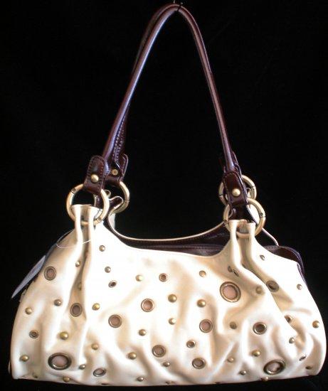 Grommet stud Beige brown handbag bag purse New Style