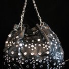 Black Rhinestone handbag bucket bag purse NWT s