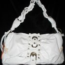 White NWT Faux leather Fashion handbag bag purse