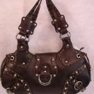 Brown trendy Studded handbag bag purse HOT