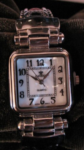 Pink And Silver Tone Womens Cuff Watch
